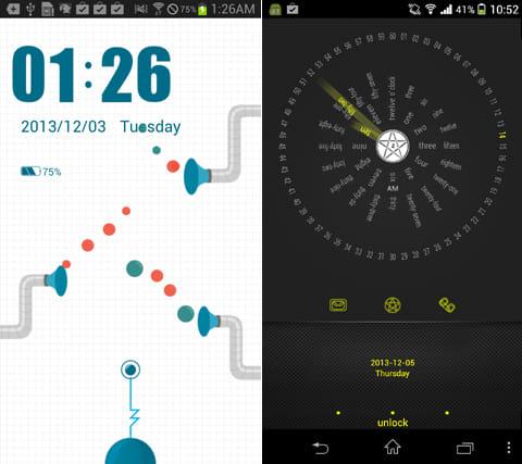 GOロッカー:「Pobbo」のテーマ(左)「Heartbeat」のテーマ(右)