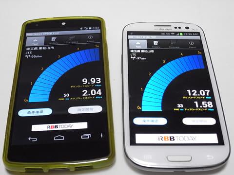 月額980円の「BIC SIM」(左)とドコモもデータ通信プラン(右)1、000円未満の契約でも、キャリアサービスと同等の速度がある