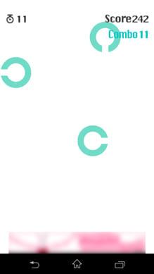 動体C力:穴の開いた方に素早くフリック!