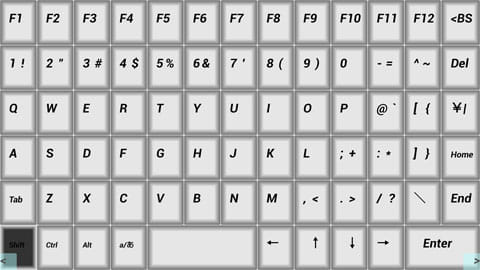 Air HID :WiFi Mouse & KeyBoard:横キーボード