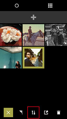 VSCO Cam®:GARALYへ写真を追加して編集開始