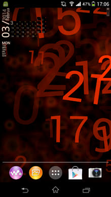 Alive numbers:カレンダーも表示できる