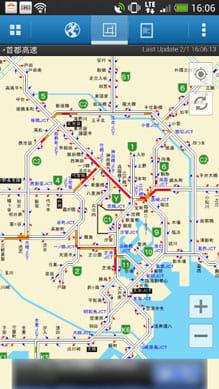 渋滞ナビ:JARTICサイトでおなじみ「簡易図」画面