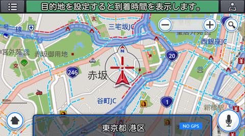 ドコモ ドライブネットインフォ:周辺の道路状況が見られる