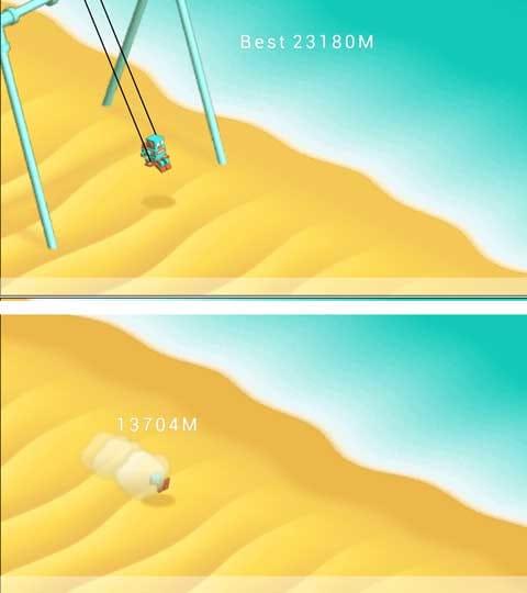 ブランコゲーム3rd:ロボットを跳ばし飛距離を測ろう