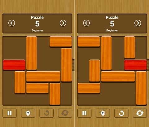 Unblock Me FREE:赤色ブロックをゴールへ導こう