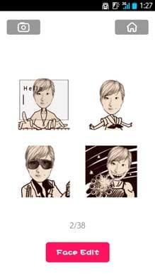 MomentCam:「Emoticons」では動きのある画像を作成できる