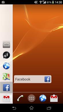 Glovebox - Side launcher:アプリを選んで指を離すだけで起動