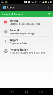 Loopr - Task Switcher (Beta):設定画面