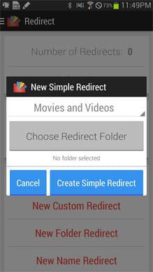 Redirect File Organizer:まずはファイルの設定