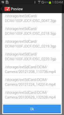 Redirect File Organizer:移動するファイルを確認できる
