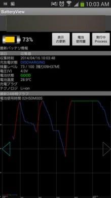 BatteryView(バッテリー管理)