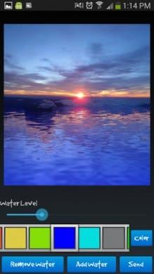 水の反射効果