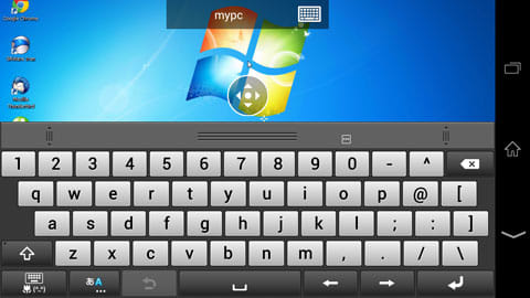 Microsoft Remote Desktop:Android端末側のキーボード