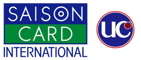 VISAカードでのチャージはセゾンカード(左)またはUCカード(右)のマークがあって、Verified by VISAによるオンライン本人確認が可能な状態である必要がある