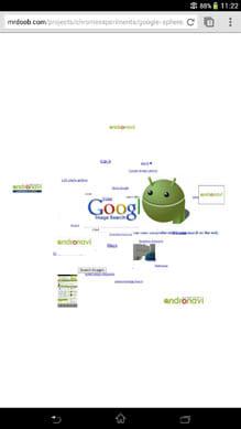 Google画像検索が立体的に表示される「Google Sphere」