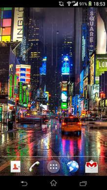 雨ニューヨークライブ壁紙