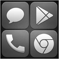 『Glasklart - Icon Pack』~半透明でクールなデザインのアイコンに変身!壁紙と合わせ...