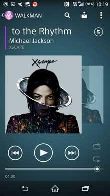 XperiaのWALKMANアプリ