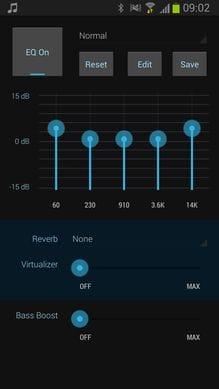 Cloudskipper Music Player:イコライザー機能で自分好みの音質へ
