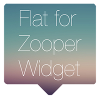Flat for Zooper Widget Full