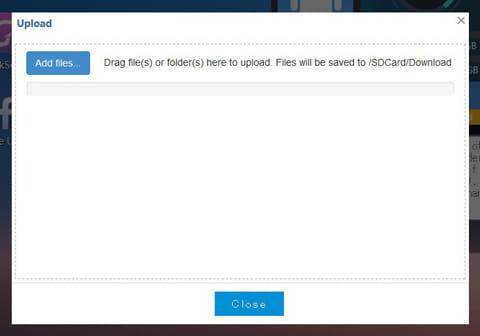 Web PC Suite:「Add Files」をクリック