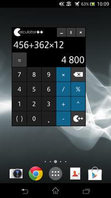 電卓 ++:フローティングで動作するバージョンもインストールされる