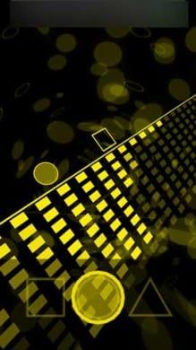 Co!ors Yellow:ゲームステージは、斜めのラインとなっていてクール!