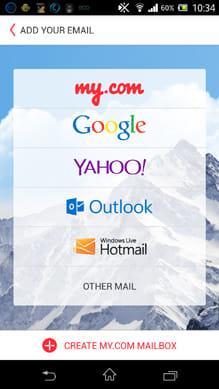 myMail - 無料のメールアプリ:管理したいメールサービスを選択