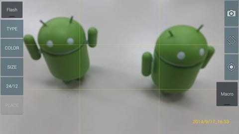日付入りカメラ(DateCamera):撮影モード中でもタップするだけで設定変更が可能