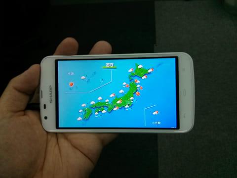 「AQUOS PHONE SH90B」はワンセグの受信機能も備えている