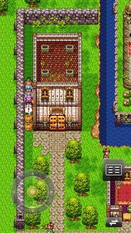 ドラゴンクエストIII そして伝説へ…:仮想パッドは移動出来るので、自分がプレイしやすい位置に変えられる。