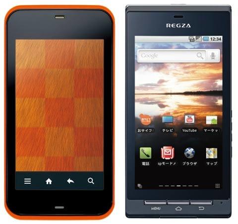 「IS03」(左)「REGZA PHONE T-01C」(右)