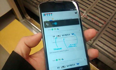 IFTTT:スクリーンショットを取ろうとして音量が下がるの図
