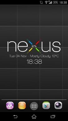 Nexus 5 Zooper Widget!