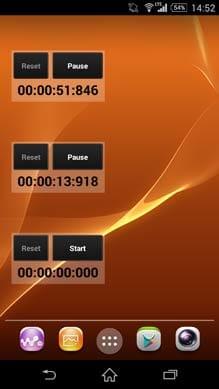 StopwatchDroid Widget:複数設置も可能
