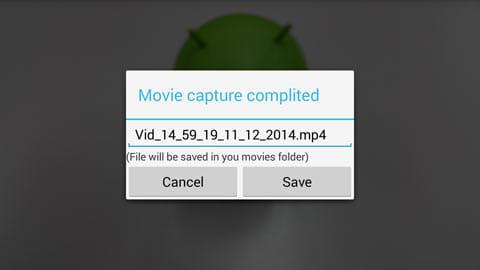 Record One Click:画面をタップすると撮影終了。そのまま保存するか破棄するか選べる