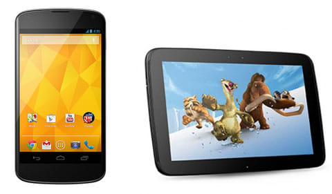 Nexus 4とNexus10