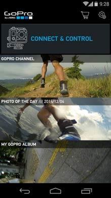 GoPro App:アプリホーム