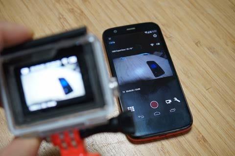 GoPro App:GoPro App:接続が完了すると、GoPro Appからカメラをリモートコントロールすることが可能になる