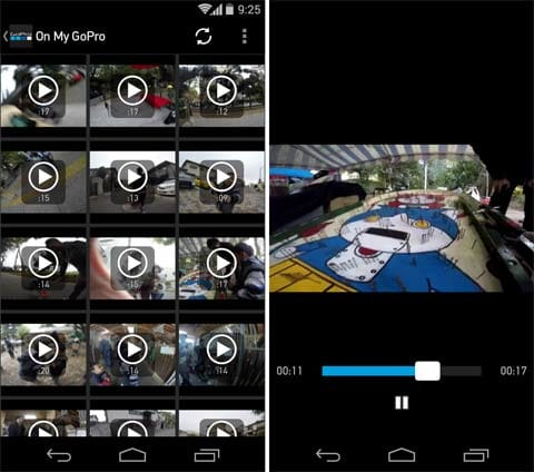 GoPro App:ライブラリからGoProのSDカード内に保存されている動画を再生