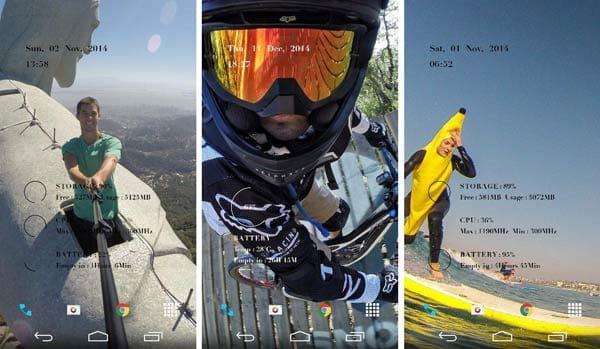 GoPro App:「Photo of the Day」の写真が壁紙に設定された例(毎日更新)