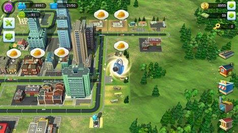 SimCity BuildIt:住宅を成長させたときの収入で稼ぐのだが中々たまりづらいぜ!