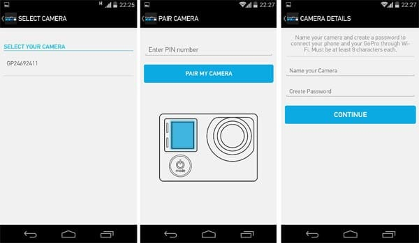 GoPro App:カメラとアプリのペアリング作業