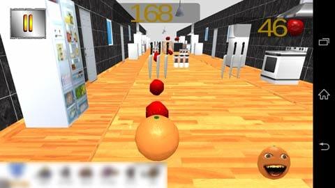 The Annoying Orange Rush:リンゴを回収しながら、障害物を避けろ