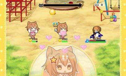 猫耳さばいばー!:画面中央のキャラクターアイコンをなでなでして攻撃!