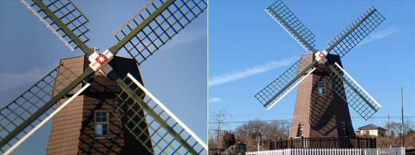 望遠レンズ使用(左)スマホのズーム(右)