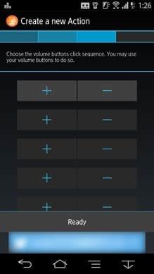 QuickClick:本アプリをONにすると、指定した機能の操作が可能