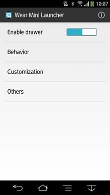 Wear Mini Launcher:Android端末側から動作や表示のカスタマイズが可能