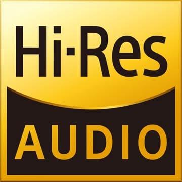 日本オーディオ協会の基準を満たす音響機器や音楽ソフトに付けることができる「ハイレゾオーディオ」ロゴ。元々はソニーがハイレゾオーディオ対応機器に付けていた商標